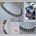 planche Rhodes bleu blanc