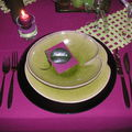 Table violette-verte