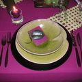 Table violette-verte
