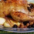Pintade braisée d'automne, au miel, noix et deux raisins