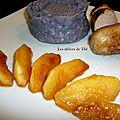 Boudin blanc truffé, vitelotte/pomme