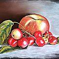 les petites pommes( malus everest) et la grosse