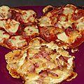 Crêpes façon pizzas