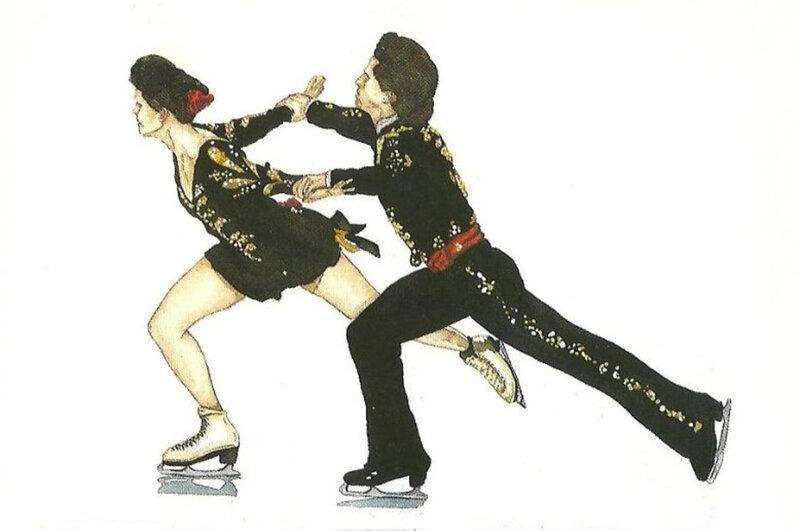 CPM Couple de patineur R