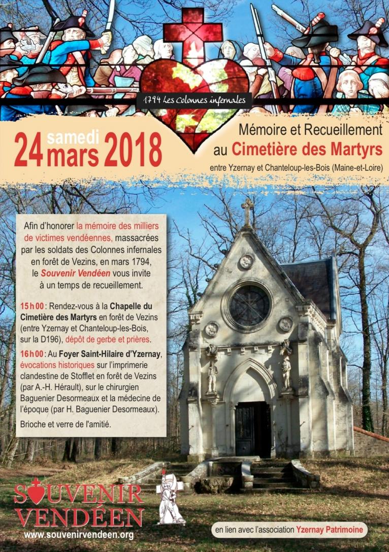 24 mars 2018 : Recueillement au Cimetière des Martyrs