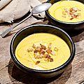 Velouté de butternut au poivron et curry