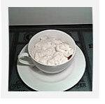 Comp'uccino de framboises, chantilly menthe et vanille
