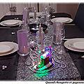 Ma table argentee pour le reveillon du nouvel-an