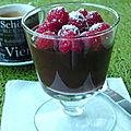 Crème espagnole chocolat et framboises, sans gluten et sans lactose