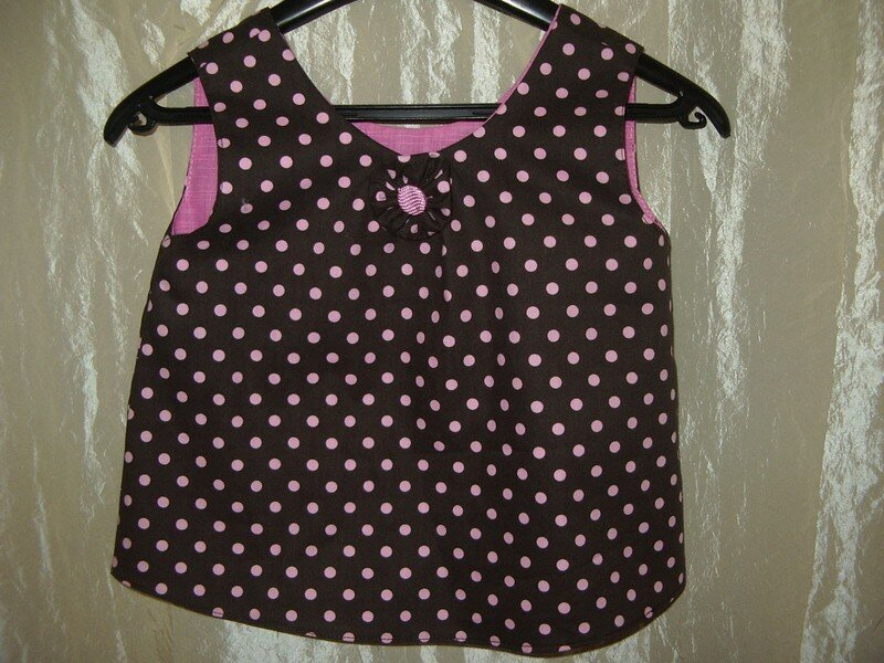 Une petite blouse pour Jeanne (Merci Kitou pour le tissus)