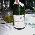 Repas d'anniversaire, canard mulard et Mouton Rothschild 2002