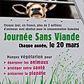 La Journée Sans Viande, <b>20</b> <b>mars</b> 2012