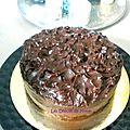 Mud cake et sa ganache aux 2 chocolats