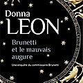 Brunetti et le mauvais augure, polar de <b>Donna</b> <b>Leon</b>