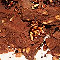 Brownie aux cacahuetes caramelisees
