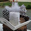 Petit plateau <b>Noël</b> blanc