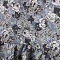 Blouse CERISE en coton fleuri gris (7)