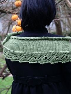 Scroll lace scarf.