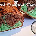 Marbré pistrache et chocolat ( au thermomix )