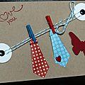 05. kraft, bleu, rouge et blanc - cravates suspendues