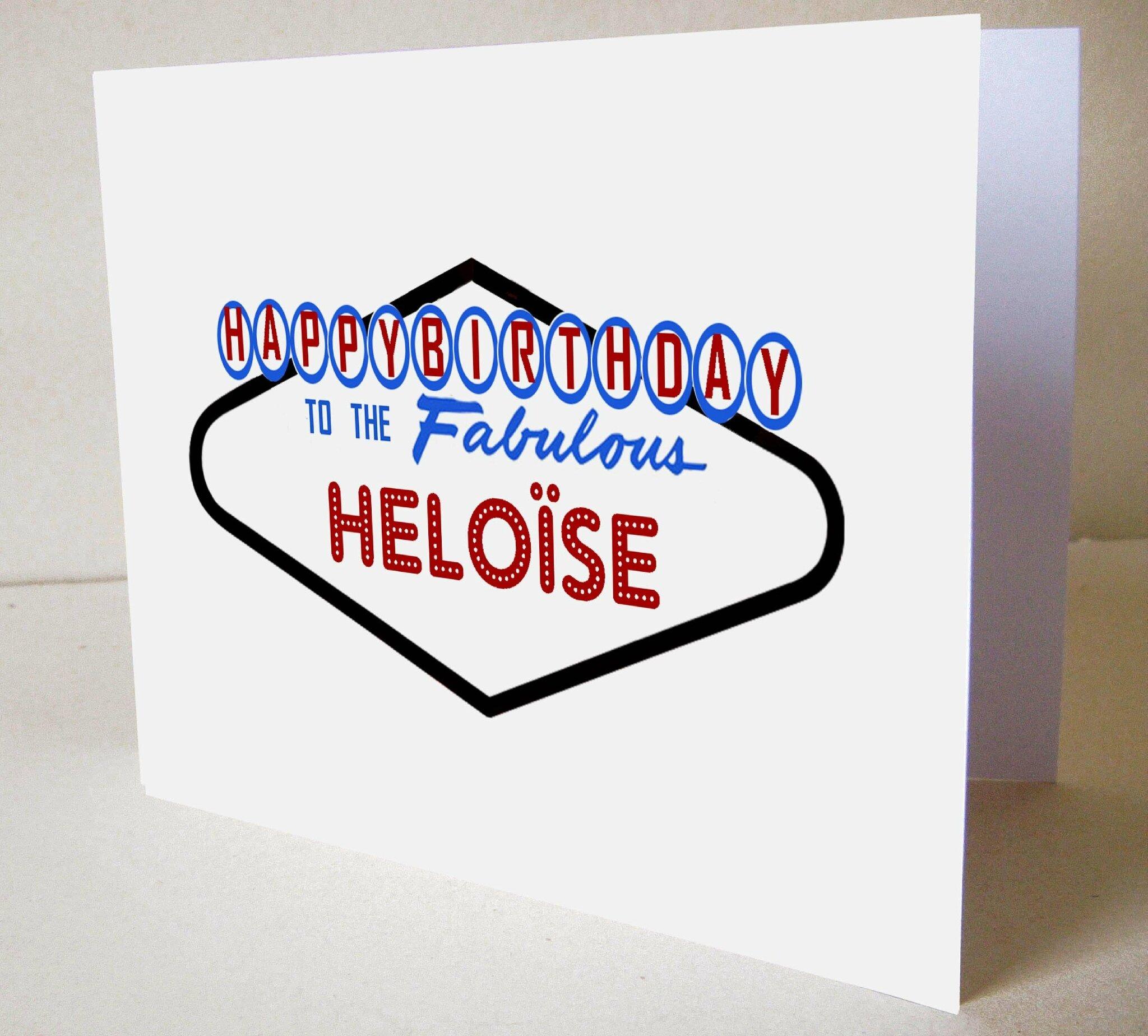 Carte anniversaire personnalisable