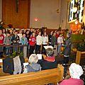 Sentheim: les écoliers ont chanté noël pour les pensionnaires de saint-jean