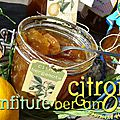 Confiture de citron bergamote