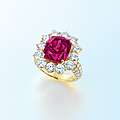 A ruby and diamond ring, by Gimel