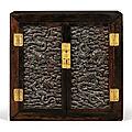 Important cabinet en zitan, dynastie qing, époque qianlong (1736-1795)