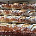 Baguettes francaise a la levure de boulanger