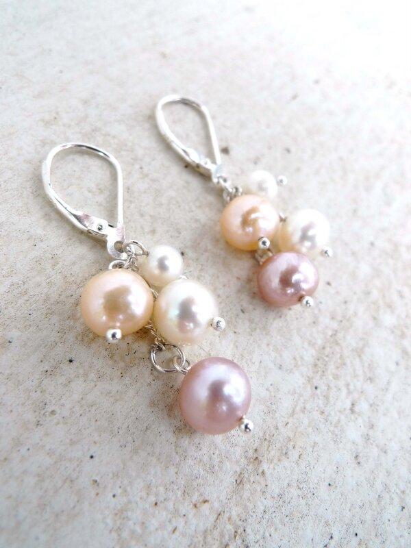 Perles de culture et Argent 925