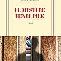 Le mystere henri pick, david foenkinos