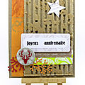 <b>Carte</b> inspiration <b>automnale</b> - Fall inspired card