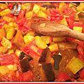 La blétatouille: poêlée de blé, tomates, courgettes et aubergines