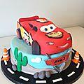 Gâteau <b>Flash</b> <b>Mcqueen</b> de Noé