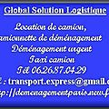 Location taxi demenagement