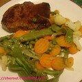 Entrecôte de boeuf et sa poêlée de légumes