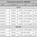 Planning des formations 2008-2009
