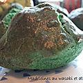 Madeleines au <b>wasabi</b> et algues séchées