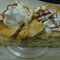 tarte suisse aux pommes / a la chantilly