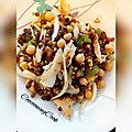 salade de lentilles et pois <b>chiches</b> au haddock fumé