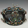 <b>Headdress</b> for a Manchu court lady, made in China in the 19th century
