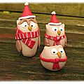 hiboux de Noël famille