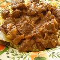 Faux filet de boeuf sauce bourguignonne express