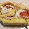 *Roulé fraises /chantilly et meringues