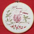 Broderie - Monsieur Hibou - Modèle de <b>Marie</b> <b>Suarez</b>