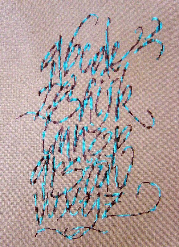 abécédaire bleu de Anne So