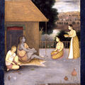 Ladies Visiting an Ascetic, Attributed to the Avadh artist, <b>Mir</b> <b>Kalan</b> <b>Khan</b>, circa 1750 A.D