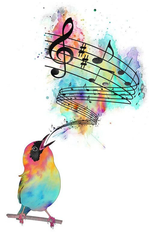 F Oiseau notes musique