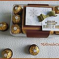 Embellir une boîte de chocolats à offrir